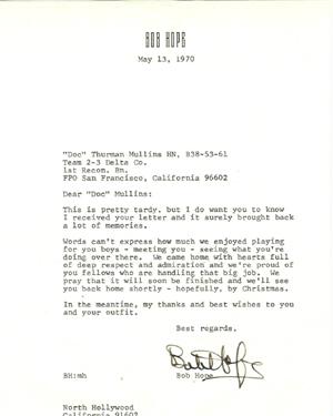 Letter From Bob Hope