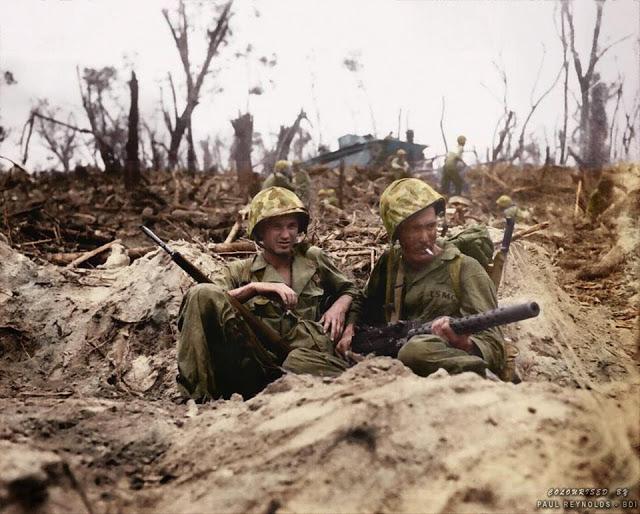 WWII Peleliu Marines