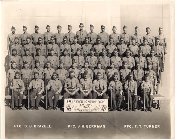 Ron Hays USMC Boot Camp 1943 pic