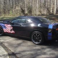 semper fi dodge challenger driver side with us flag