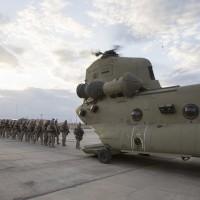 Marines boarding ch-47 chinookinIraq