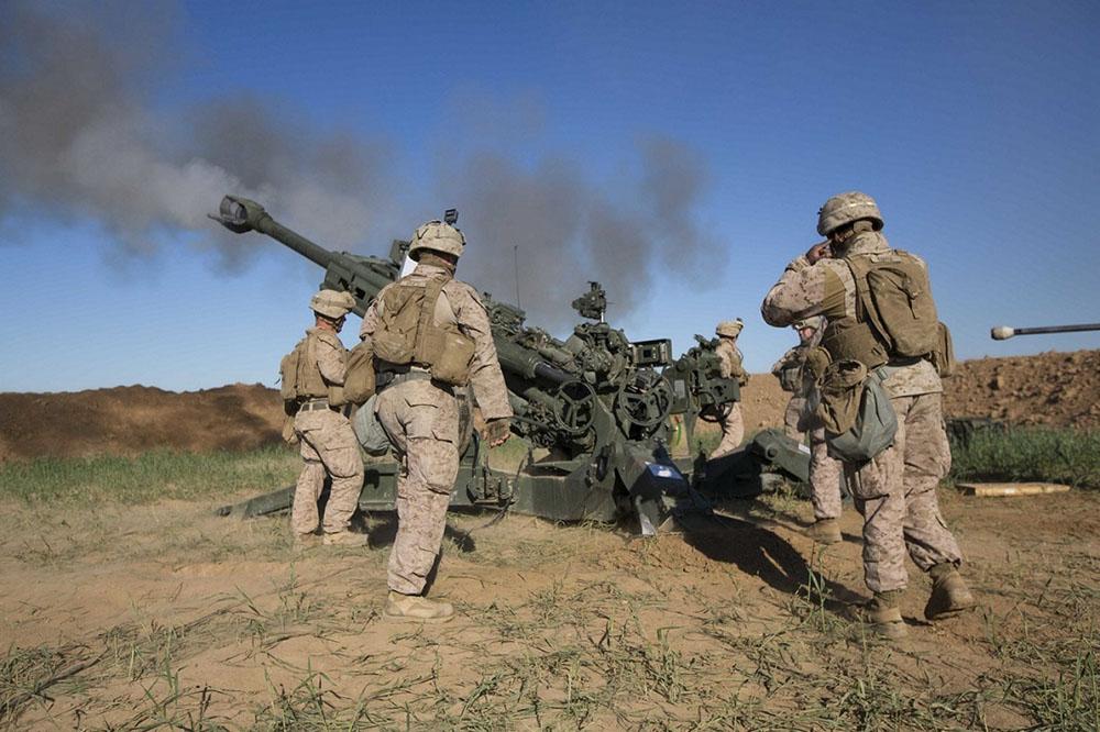 Marine Fire Base In Iraq