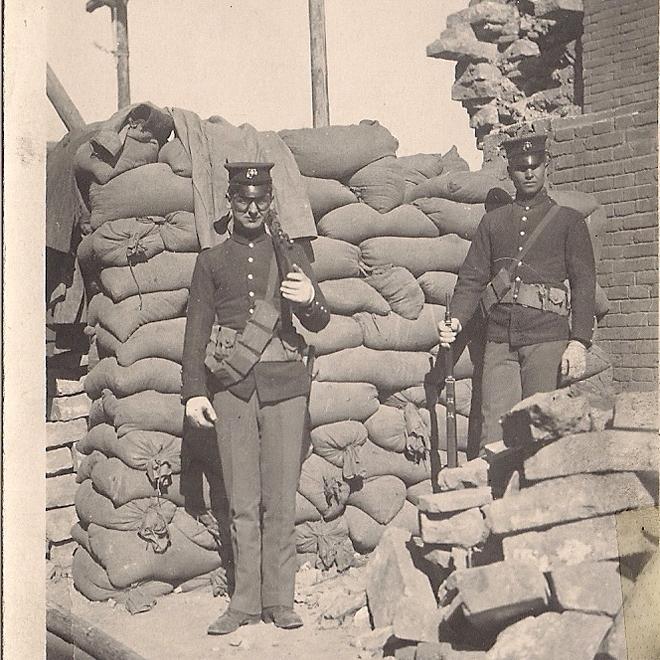 Marine Standing Guard 1911
