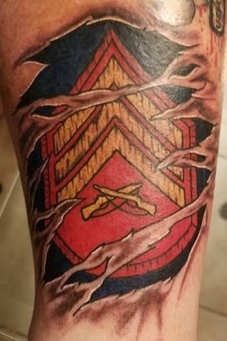 Tattooed Marines